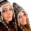 Stock Photo: Close up view of teens friends smiling