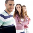 Trio of college best friends — Stockfoto