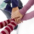Stock Photo: Best friends joining hands, close up