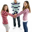 Gang of best friends joining hands — Stock Photo #1664872