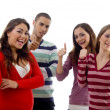 Gang of cheerful four best friends — Stock Photo #1665004