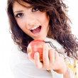 Gorgeous woman eating fresh apple — Stock Photo #1667165