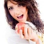 Gorgeous woman eating fresh apple — Stock Photo #1667165
