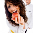 Gorgeous woman and handsome male chef — Stock Photo #1667182