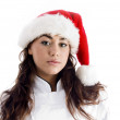 Young chef wearing christmas hat — Stock Photo #1667373