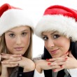 Young colleagues wearing christmas hat — Stock Photo #1668443