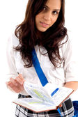 High school student with study material — Stock Photo