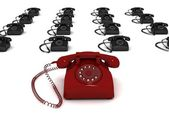 Rendered 3d telephones — Stock Photo