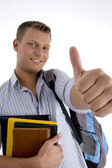 Smiling student wishing good luck — Stock Photo