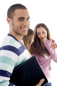 Portrait of young students posing — Stock Photo