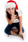 Young lady asking to keep silent — Stock Photo