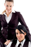 Young female business partners posing — Stock Photo