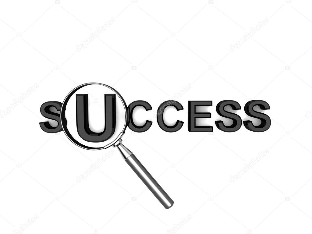 Isolated three dimensional text of success on an isolated white background — Stock Photo #1662862