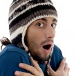 Handsome guy shivering in winter outfit — Stock Photo #1670036