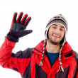Handsome young guy in winter outfit — Stock Photo