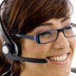 Stock Photo: Close up of smiling service provider