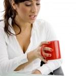 avukat kupa kahve arıyor — Stok fotoğraf