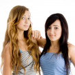 Front view of young sisters together — Stock Photo