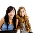 American classmates with laptop — Stock Photo #1672613