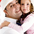 Loving father hugging adorable daughter — Stock Photo #1673077