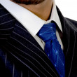 Close up of executive's tie — Stock Photo