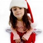 chapeau de Noël portant de jolie fille — Photo