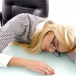 Businesswoman sleeping in office — Stock Photo