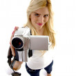 Royalty-Free Stock Photo: High angle view of model with camcorder