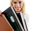 Smiling student with books — Stock Photo