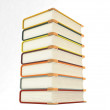 3d piled up notebooks — Stock Photo
