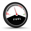 3d circular fuel gauge — Stock Photo