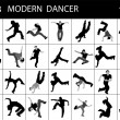 Trendy young dancers — Foto Stock