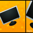 Flat lcd monitor — Stock Photo