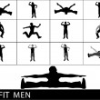 Exercising men, poses — Stock Photo