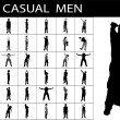 Stock Photo: Casual males standing, pose