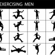 Foto Stock: Exercising young males