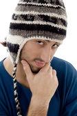 Thinking male looking at camera — Stock Photo
