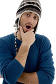 Surprised male looking at camera — Stock Photo