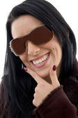 Pleased female wearing sunglasses — Stock Photo