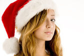 Cute young girl celebrating christmas — Stock Photo