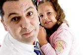 Lovable father holding his daughter — Stock Photo