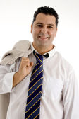 Cheerful white businessman — Stok fotoğraf