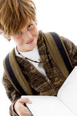 Smiling school child looking at camera — Stock Photo
