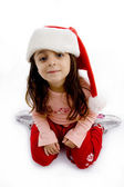Pretty girl wearing christmas hat — Stock Photo