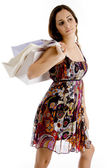 Gorgeous woman with shopping bags — Stock Photo