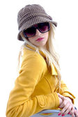 Glamorous woman wearing sunglasses — Stock Photo