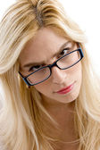 Beautiful woman wearing spectacles — Stock Photo