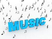3D text vykreslený hudby — Stock fotografie