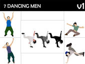 Dancing young males — Foto Stock