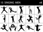 Singing men — Stock Photo